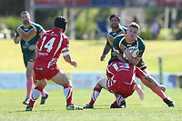 The Wyong Roos play Kincumber Colts in Round 17 of the Open Age Central Coast Rugby League Division at Morry Breen Oval on 18th of August, 2019 in Kanwal, NSW Australia. (Photo by Paul Barkley/LookPro)