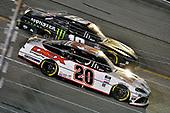 #20: Harrison Burton, Joe Gibbs Racing, Toyota Supra Morton Buildings/DEX Imaging and #18: Riley Herbst, Joe Gibbs Racing, Toyota Supra Monster Energy