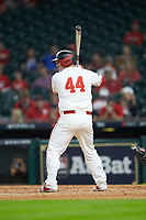 Joe Davis (44) of the Houston Cougars at bat against the Kentucky Wildcats in game two of the 2018 Shriners Hospitals for Children College Classic at Minute Maid Park on March 2, 2018 in Houston, Texas.  The Wildcats defeated the Cougars 14-2 in 7 innings.   (Brian Westerholt/Four Seam Images)
