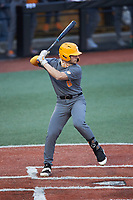 Evan Russell (6) of the Tennessee Volunteers at bat against the Charlotte 49ers at Hayes Stadium on March 9, 2021 in Charlotte, North Carolina. The 49ers defeated the Volunteers 9-0. (Brian Westerholt/Four Seam Images)