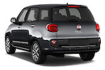 Car pictures of rear three quarter view of 2016 Fiat 500L Living Popstar 5 Door Mini MPV Angular Rear