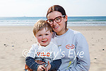 Enjoying a stroll on Banna beach on Thursday, l to r: Gemma O'Hara and Callum Townsend.