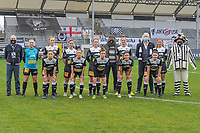 Team picture Eendracht Aalst ( Goalkeeper Silke Baccarne (1) of Eendracht Aalst , Loes Van Mullem (33) of Eendracht Aalst , Stephanie Van Gils (27) of Eendracht Aalst , Valentine Hannecart (8) of Eendracht Aalst , Margaux Van Ackere (37) of Eendracht Aalst , Chloe Van Mingeroet (17) of Eendracht Aalst and Niekie Pellens (41) of Eendracht Aalst , Anke Vanhooren (7) of Eendracht Aalst , Justine Blave (22) of Eendracht Aalst , Daisy Baudewijns (30) of Eendracht Aalst , Annelies Van Loock (9) of Eendracht Aalst ) before a female soccer game between Eendracht Aalst and Standard Femina de Liege on the 11 th matchday of the 2020 - 2021 season of Belgian Scooore Womens Super League , Saturday 23 of January 2021  in Aalst , Belgium . PHOTO SPORTPIX.BE | SPP | STIJN AUDOOREN