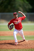St. Louis Cardinals pitcher Fabian Blanco (26) during a Minor League Spring Training game against the Houston Astros on March 27, 2018 at the Roger Dean Stadium Complex in Jupiter, Florida.  (Mike Janes/Four Seam Images)