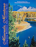 Nelson Kenter photo of fishermen in a raft on the Clark Fork River used on a visitors guide cover