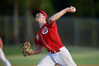 Ryan Stefiuk (48) during the WWBA World Championship at the Roger Dean Complex on October 13, 2019 in Jupiter, Florida.  Ryan Stefiuk attends Preble High School in Green Bay, WI and is committed to Vanderbilt.  (Mike Janes/Four Seam Images)
