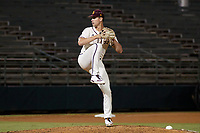 Arizona State Sun Devils pitcher Justin Fall (23) during a game at Phoenix Municipal Stadium on October 4, 2019 in Phoenix, Arizona.  (Freek Bouw/Four Seam Images)