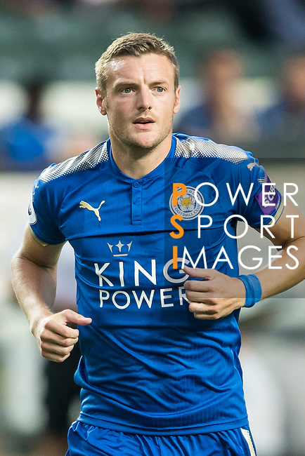 Leicester City FC forward Jamie Vardy looks on during the Premier League Asia Trophy match between Leicester City FC and West Bromwich Albion at Hong Kong Stadium on 19 July 2017, in Hong Kong, China. Photo by Weixiang Lim / Power Sport Images