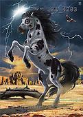 Interlitho, Lorenzo, FANTASY, paintings, thunder stallion, KL, KL4283,#fantasy# illustrations, pinturas