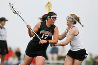 20 June 2006: Megan McClain during Stanford's 17-9 loss to Northwestern in the first round of the 2006 NCAA Lacrosse Championships in Evanston, IL. Stanford made it to the NCAA's for the first time in school history.