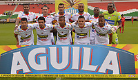 TUNJA -COLOMBIA, 30-07-2017.Formación del Deportivo Pasto. Acción de juego entre los equipos  Patriotas FC y el Deportivo Pasto  durante encuentro  por la fecha 5 de la Liga Aguila II 2017 disputado en el estadio de  La Independencia./ Team of Deportivo Pasto.Action game between  of  Patriotas FC and   Deprtivo Pasto  during match for the date 5 of the Aguila League II 2017 played at La Independencia  stadium . Photo:VizzorImage / Jose Miguel Palencia / Cont