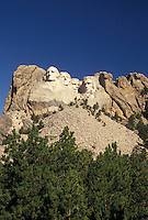 Mount Rushmore National Memorial, SD, South Dakota, Mt. Rushmore, Black Hills, View of Mount Rushmore Nat'l Memorial.