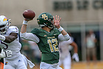 Baylor Bears quarterback Charlie Brewer (12) in action during the game between the Kansas Jayhawks and the Baylor Bears at the McLane Stadium in Waco, Texas.