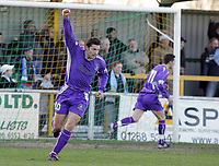 Thurrock vs Grays Athletic - 26/12/04 - Nationwide Conference South - Steve West wheels away in delight after Grays take the lead through Dennis Oli at Ship Lane - (Gavin Ellis)