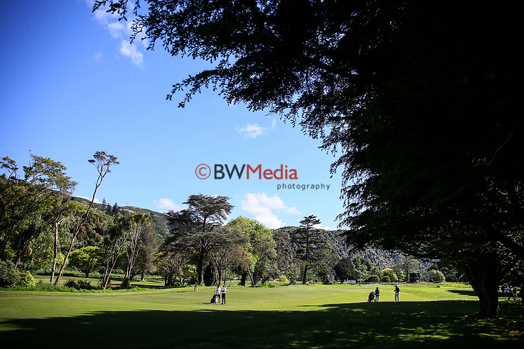 General View during the Asia Pacific Amateur Golf Championship Round Two, Royal Wellington Golf Course, Wellington, New Zealand, 27 October2017.  Photo: Simon Watts/www.bwmedia.co.nz