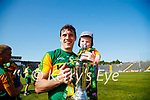 David Moran and his son Eli after the Munster GAA Football Senior Championship Final match between Kerry and Cork at Fitzgerald Stadium in Killarney on Sunday.