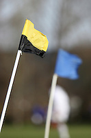 Sunday football corner flags are seen on a windy morning at Hackney Marshes - 02/03/08 - MANDATORY CREDIT: Gavin Ellis/TGSPHOTO - Self billing applies where appropriate - Tel: 0845 094 6026