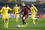 Radja Nainggolan of AS Roma fights for the ball with Mateo Pablo Musacchio of Villarreal CF during the match Villarreal CF vs AS Roma, part of the UEFA Europa League 2016-17 Round of 32 at the Estadio de la Cerámica on 16 February 2017 in Villarreal, Spain. Photo by Maria Jose Segovia Carmona / Power Sport Images