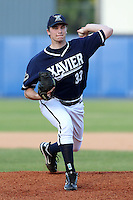 Xavier Musketeers Jon Richard #33 during a game vs. the Illinois State Redbirds at Chain of Lakes Stadium in Winter Haven, Florida;  March 5, 2011.  Illinois State defeated Xavier 7-6.  Photo By Mike Janes/Four Seam Images