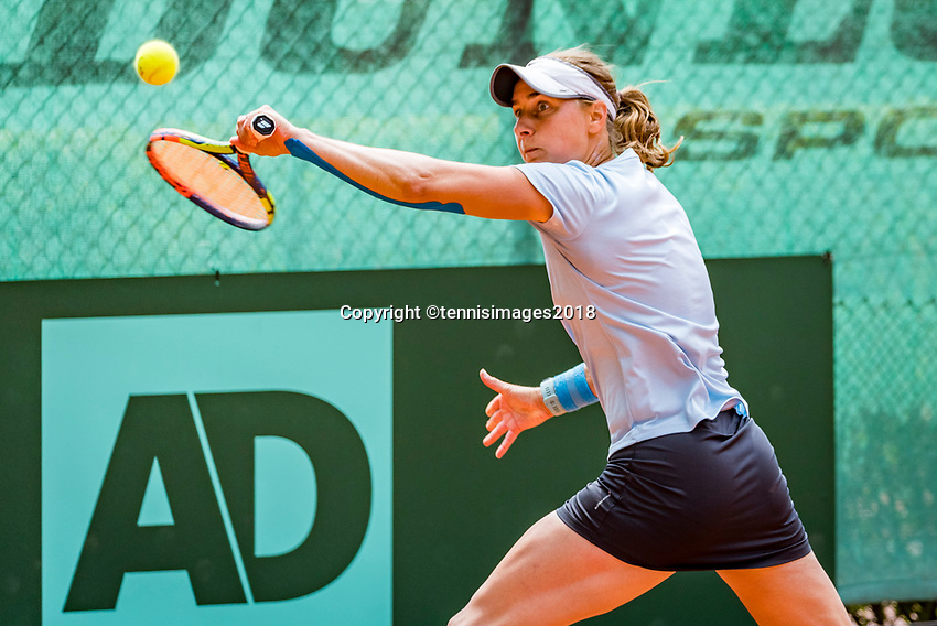The Hague, Netherlands, 10 June, 2018, Tennis, Play-Offs Competition, Danielle Harmsen (NED)<br /> Photo: Henk Koster/tennisimages.com