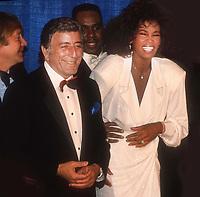Tony Bennett Whitney Houston 1990<br /> Photo By John Barrett/PHOTOlink