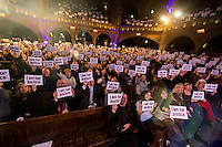 Stand up for legal aid, comedy night  benefit gig for the Justice Alliance at the Union Chapel 24-2-15 The speakers included Matt Foot from the Justice Alliance and Shami Chakrabati from Liberty. The comedy which was compered by ian Stone included Alistair Barrie, Joe Wells, Nick Revel, Stephen K Amos, Angela Barnes, Kevin Eldon, Sarah Pascoe and Stewart Lee.