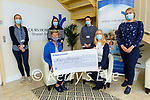 The staff of Bons Secour Patient Accounts present a cheque for €200 to Kerry Hospice on Tuesday. Seated l to r: Maura Sullivan (Kerry Hospice) and Catherine O'Connor.<br /> Standing l to r: Niamh McSweeney, Aisling Tiss, Aoife Cronin and Denise Bowler.