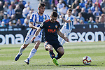 CD Leganes's Oscar Rodriguez and Valencia CF' Francis Coquelin during La Liga match, Round 25 between CD Leganes and Valencia CF at Butarque Stadium in Leganes, Spain. February 24, 2019. (ALTERPHOTOS/A. Perez Meca)