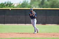 Milwaukee Brewers second baseman Yeison Coca (96) throws during an Instructional League game against the San Diego Padres at Peoria Sports Complex on September 21, 2018 in Peoria, Arizona. (Zachary Lucy/Four Seam Images)