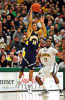 13 December 2009: Quinnipiac University Bobcats' guard James Feldeine, a Senior from New York, NY, in action against the University of Vermont Catamounts at Patrick Gymnasium in Burlington, Vermont. The Catamounts defeated the visiting Bobcats 80-77 to mark the Cats' season home opener with a win. Mandatory Credit: Ed Wolfstein Photo