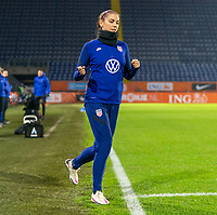 BREDA, NETHERLANDS - NOVEMBER 27: Alex Morgan #13 of the USWNT steps onto the field before a game between Netherlands and USWNT at Rat Verlegh Stadion on November 27, 2020 in Breda, Netherlands.