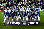 Team photo of CD Leganes during La Liga match between CD Leganes and Getafe CF at Butarque Stadium in Leganes, Spain. January 17, 2020. (ALTERPHOTOS/A. Perez Meca)
