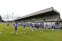Notts County players warm up ahead of Arsenal Ladies vs Notts County Ladies, FA Women's Super League FA WSL1 Football at Meadow Park on 10th July 2016