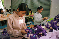 "DOR-LOK TOY FACTORY,  AT  BUJI IND. ZONE PAN TIN DISTRICT (OUTSIDE SHENZHEN), CHINA.  THE FACTORY MAKES THE ""TELLY TUBBY"", TOYS ."