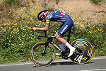 US Champion Ian Garrison (USA) Deceuninck-Quick Step in action during Stage 1 of the Itzulia Basque Country 2021, an individual time trial running 13.9km from Bilbao to Bilbao, Spain. 5th April 2021.  <br /> Picture: Luis Angel Gomez/Photogomezsport   Cyclefile<br /> <br /> All photos usage must carry mandatory copyright credit (© Cyclefile   Luis Angel Gomez/Photogomezsport)