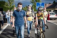 happy race winner Pascal Eenkhoorn (NED/Jumbo-Visma) post-race<br /> <br /> Heylen Vastgoed Heistse Pijl 2021 (BEL)<br /> One day race from Vosselaar to Heist-op-den-Berg (BEL/193km)<br /> <br /> ©kramon
