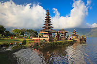 Ulan Danu Beratan Temple, a Balinese Hindu temple on Beratan Lake, Bali, Indonesia.