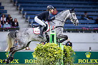 GER-Malin Hansen-Hotopp rides Carlitos Quidditch K during the Jumping for the CCIO4*-S Eventing - SAP Cup. 2021 GER-CHIO Aachen Weltfest des Pferdesports. Aachen, Germany. Friday 17 September. Copyright Photo: Libby Law Photography