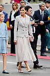 Queen Letizia of Spain attends to Spanish National Day military parade in Madrid, Spain. October 12, 2018. (ALTERPHOTOS/A. Perez Meca)