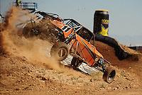 Apr 16, 2011; Surprise, AZ USA; LOORRS driver Bobby Pecoy (11) during round 3 at Speedworld Off Road Park. Mandatory Credit: Mark J. Rebilas-.