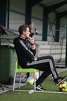 Jimmy Coenraets head coach of OHL pictured before   a female soccer game between Oud Heverlee Leuven and Femina White Star Woluwe  on the 5 th matchday of the 2020 - 2021 season of Belgian Womens Super League , Sunday 18 th of October 2020  in Heverlee , Belgium . PHOTO SPORTPIX.BE   SPP   SEVIL OKTEM