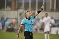 SAN JOSE, CA - SEPTEMBER 13: Referee Timothy Ford during a game between Los Angeles Galaxy and San Jose Earthquakes at Earthquakes Stadium on September 13, 2020 in San Jose, California.
