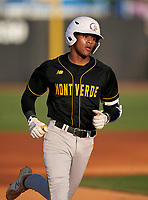 Montverde Academy Eagles Cadmiel Pompa (31) rounds the bases after hitting a home run during a game against the IMG Academy Ascenders on April 8, 2021 at IMG Academy in Bradenton, Florida.  (Mike Janes/Four Seam Images)