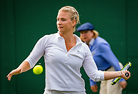 London, England, 4 th. July, 2018, Tennis,  Wimbledon, Woman's doubles: Ysaline Bonaventure (BEL) <br /> Photo: Henk Koster/tennisimages.com