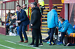 Motherwell v St Johnstone….30.03.19   Fir Park   SPFL<br />Tommy Wright goes nuts at his players<br />Picture by Graeme Hart. <br />Copyright Perthshire Picture Agency<br />Tel: 01738 623350  Mobile: 07990 594431