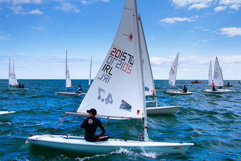 After the Laser 4.7 (ILCA 4) Youth World Championships on Dublin Bay last week (above), the Irish Laser fleet is back on the water this week racing for National honours at Royal Cork Yacht Club
