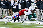 Tulane Green Wave running back Josh Rounds (25) in action during the game between the Tulane Green Wave and the SMU Mustangs at the Gerald J. Ford Stadium in Dallas, Texas.