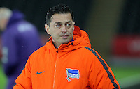 Pictured: Hertha Berlin manager Ante Govic Tuesday 28 February 2017<br /> Re: Premier League International Cup, Swansea City U23 v Hertha Berlin II at at the Liberty Stadium, Swansea, UK