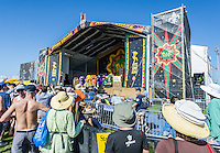 Donald Harrison Jr. and the Mardi Gras Indians perform at Jazz Fest 2016 in New Orleans, LA.