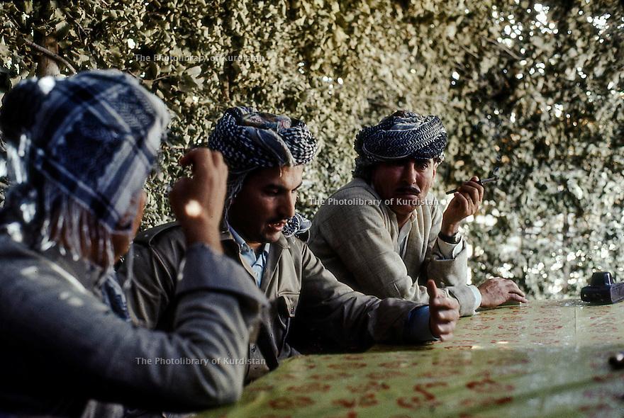 Iraq 1968 <br /> Peshmergas in a village   <br /> Irak 1968 <br /> Peshmergas dans un village